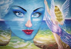 The sea in your eyes by CORinAZONe