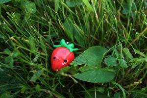 Polymer Clay Strawberry by pluto-soup