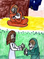 Mary and Jesus by SonicClone
