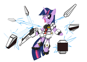 Twi-Nu Gundam by rorycon