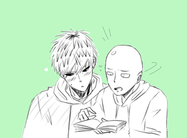 What are you looking at, Genos? by Hikari-15-L