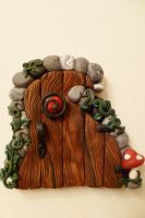 Wiggly Spiral Fairy Door by FlyingFrogCreations