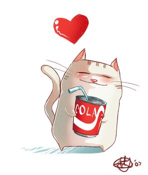 Coke Kitty by DrewGreen