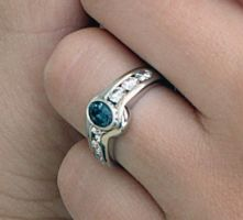 Cynthia's Wedding Ring by SoulStoneDesigns