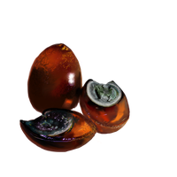Century Eggs, Two: Peeled and One Halved by emptypulchritude