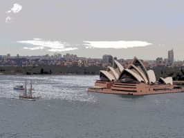 Opera House from the bridge by JolanthusTrel