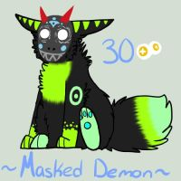 MASKED DEMON ADOPTABLE ( CLOSED. ) by brassboy