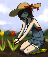 cocoa gardening by LVL80Catlady
