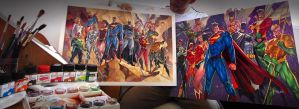 COMMISSIONS OF THE JUSTICE LEAGUE - GIANT SIZES by taguiar