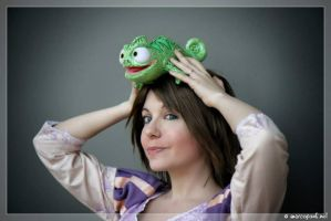Rapunzel and Pascal! by Bexxin