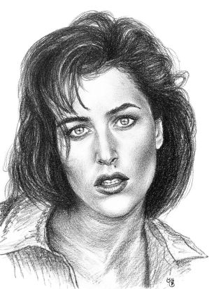 Gillian Anderson quick sketch by subhankar-biswas