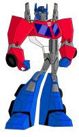 Animated Optimus Prime-Rescue Bots by TylerMirage