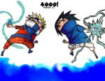 4000 - Naruto vs. Sasuke by Yfighter2
