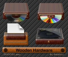Wooden Hardware Icons by 0dd0ne