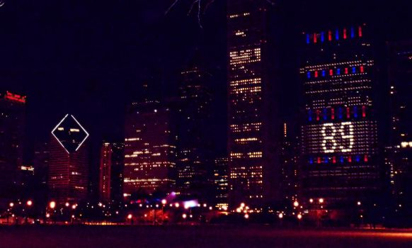 Chicago's Ditka Day Skyline by RaCzarina