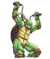 Michelangelo - Teenage Mutant ninja Turtles by Mick-cortes