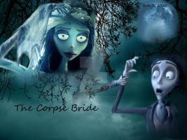 Corpse Bride using Gimp by breeminderluv