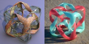 Wings 3D twised mobius cube interlocking shape two by davidbrinnen