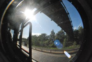 fish eye's lens stock ROAD by Theshelfs