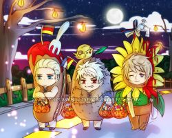 APH: Nyappy Halloween! by xiaoyugaara