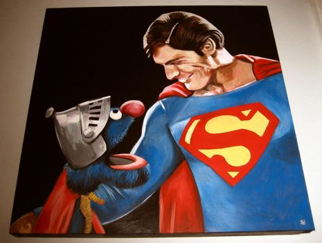 Man And Muppet Of Steel by strangelydrawn