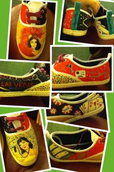 Katy Perry Waking Up In Vegas shoes by EchoCat39