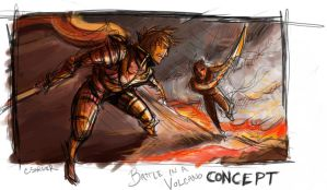 Battle in a Volcano Concept by AspartameChild