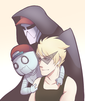 Dirk and His Robros by evillittlecherry