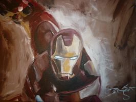 Iron Man Painting by lonedragon155