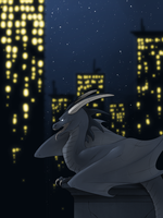 City Gargoyle by Opheleus