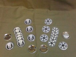 Star Wars Button and Temporary Tattoo Set by Keropanda-DuckieC