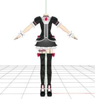 MMD Kio Gothic Outfit DL... by cherrybreeze13