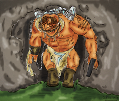 cave troll colour by xabian