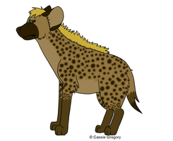 A lonely Hyena Redrawn by The-Smile-Giver