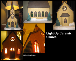 Light-Up Ceramic Church by Sketching-Eclipse
