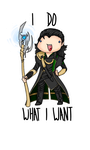 Loki does what he wants. by Meireich