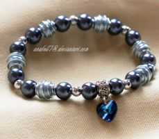 Bransoletka .blue heart. by anabell18