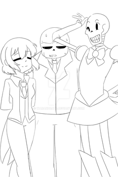 Wearing ties and bows WIP by WarandCats