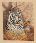 Tigers in Grass by pinkythepink