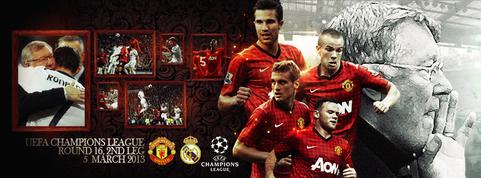 Manchester United vs Real Madrid by SkipperArt