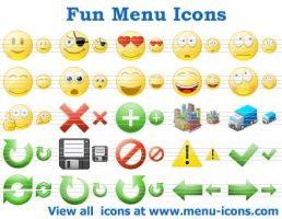 Fun Menu Icons by Ikonod