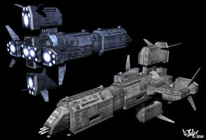 Lowpoly spaceship model by psionic
