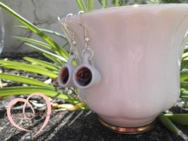 Coffee mug earrings by ilikeshiniesfakery