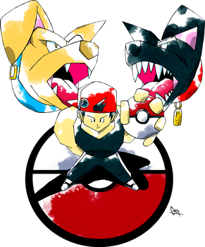 Ken Sugimori Commission 1 by CadmiumRED