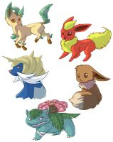 Pokemon Sketchies by Sherushi