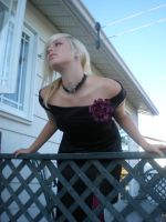 Lady rose at the balcony 14 by gsdark-stock
