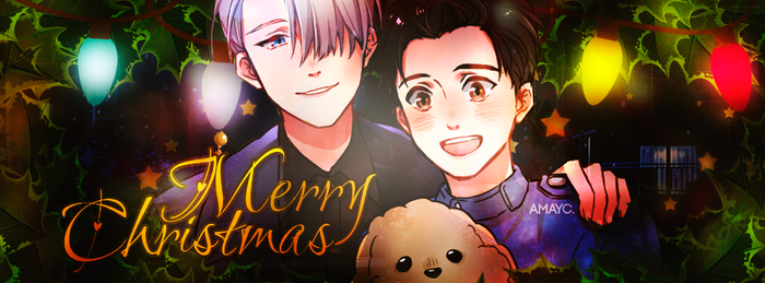 Merry Christmas - Victuuri by AmayraniCB