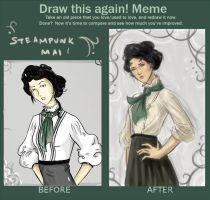 Mai before and after meme by arelia-dawn