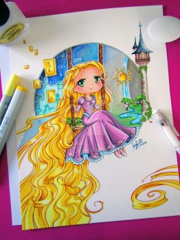 Rapunzel - Drawing by LeFay00