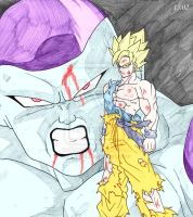 SSJ Goku vs Frieza by ssjgogeto